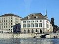 Helmhaus-Wasserkirche - Münsterbrücke - ZSG Limmatschif 'Regula' 2013-06-16 18-28-18 (P7700).JPG