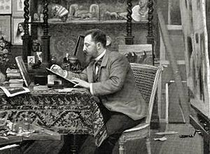 Henri Caïn - In his office (1899)