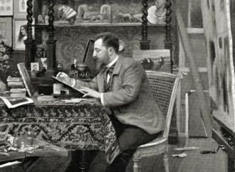 Henri Caïn - In his office (1899)