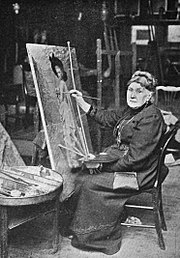 Henrietta Ward in her studio.jpg