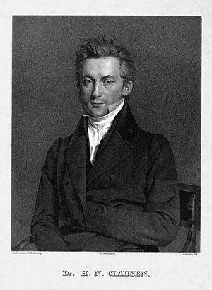 Henrik Nicolai Clausen - Henrik Nicolai Clausen, lithography from 1837, after painting by Christian Albrecht Jensen