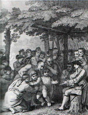 Henry Bouquet - The Indians returning English captives to Colonel Henry Bouquet in November 1764.