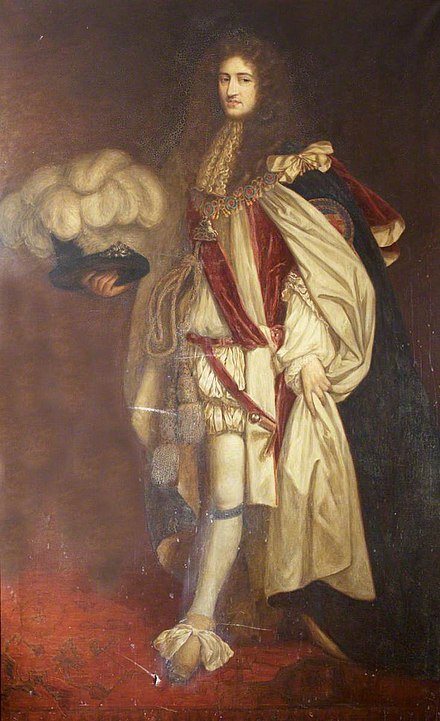 Henry Somerset, Marquess of Worcester, founder of the regiment Henry Somerset (1629-1699), 1st Duke of Beaufort, KG, PC.jpg
