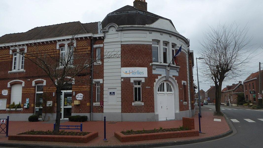 La mairie Herlies Nord Nord-Pas-de-Calais-Picardie France.