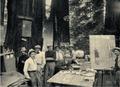 Hermann Scheffauer (X) bei der Besprechung des Bühnenbildes, 1908.png