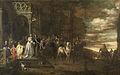 Het afscheid van ritmeester Hendrik de Sandra (1619-1707), uitgeleide gedaan door zijn vrouw en kinderen. Rijksmuseum SK-A-1960.jpeg