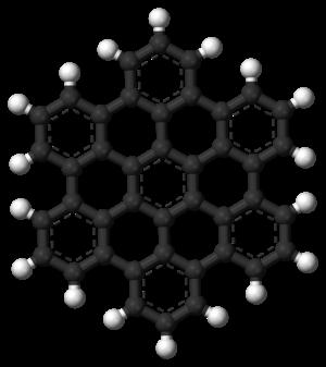 Hexabenzocoronene - Image: Hexabenzocoronene 3D balls
