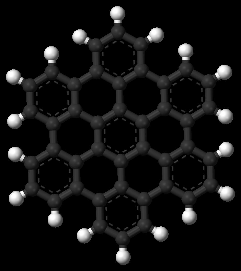 Hexabenzocoronene-3D-balls