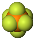 Spacefill model of hexafluorophosphate