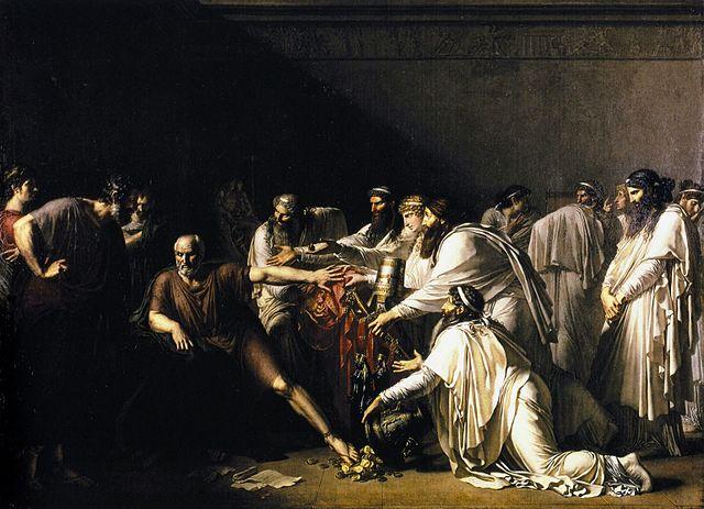 «Гиппократ отказывает послам Артаксеркса». Картина Жироде-Триозона