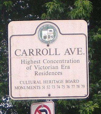 Carroll Avenue - Image: Historic Sign at Carroll Ave., Los Angeles
