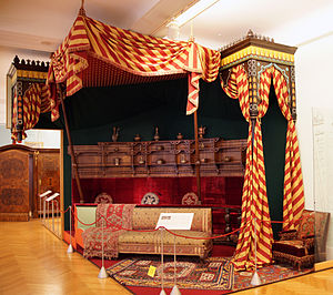 Turquerie - Rudolf, Crown Prince of Austria had his working room decorated in the Turkish style in 1881. It is partially preserved at the Hofmobiliendepot in Vienna.