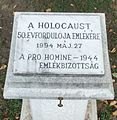 Holocaust ötvenedik évfordulója emlékére.JPG