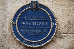 Photo of Holy Trinity, Hull blue plaque
