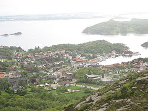 Sandnes - View of the village of Hommersåk