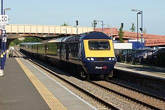 Honeybourne - Honeybourne railway station with a British Rail Class 43 (HST).