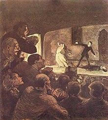 Картина Оноре Домье, изображающая театр