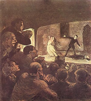 Nineteenth-century theatre - Honoré Daumier, Melodrama, 1856-1860