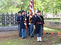 Honor guard presenting arms at the dedication ceremony for the grave marker of J. R. Kealoha.jpg