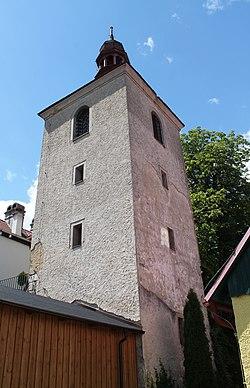 Horní Stropnice, Hojná Voda, zvonice (2020-07-07; 01).jpg