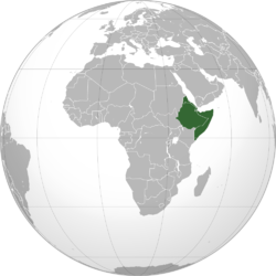 Location of Horn of Africa