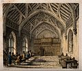 Hospital of St. Cross, Winchester, Hampshire; hall. Coloured Wellcome V0014615.jpg