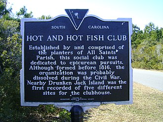 Hot and Hot Fish Club - South Carolina marker