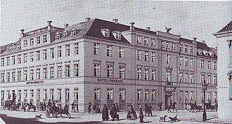 Hotel Phoenix Copenhagen - Hotel Phoenix in c. 1860