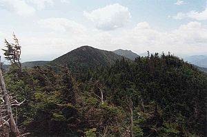 Hough Peak - Hough Peak (center) seen from the ridge to Dix Mt.