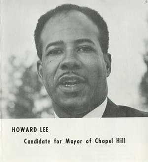 Howard Nathaniel Lee - Photo of Howard Lee from a pamphlet published during his 1969 campaign for mayor of Chapel Hill, N.C.
