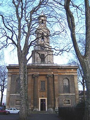 St John the Baptist, Hoxton - West door of St John's Hoxton