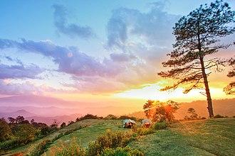Huai Nam Dang National Park - Sunset in the park