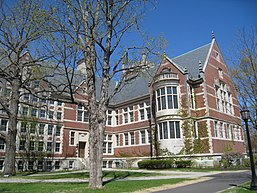 Hubbard Hall, once the college's library