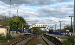 Hungerford railway station - Image: Hungerford station in 2013 view from level crossing