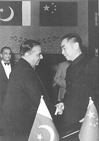"""Huseyn Shaheed Suhrawardy and Zhou Enlai signing the Treaty of Friendship Between China and Pakistan in <a style=""""color:blue"""" href=""""https://www.lahistoriaconmapas.com/timelines/countries/timeline-chronology-Beijing.html"""">Beijing</a>"""