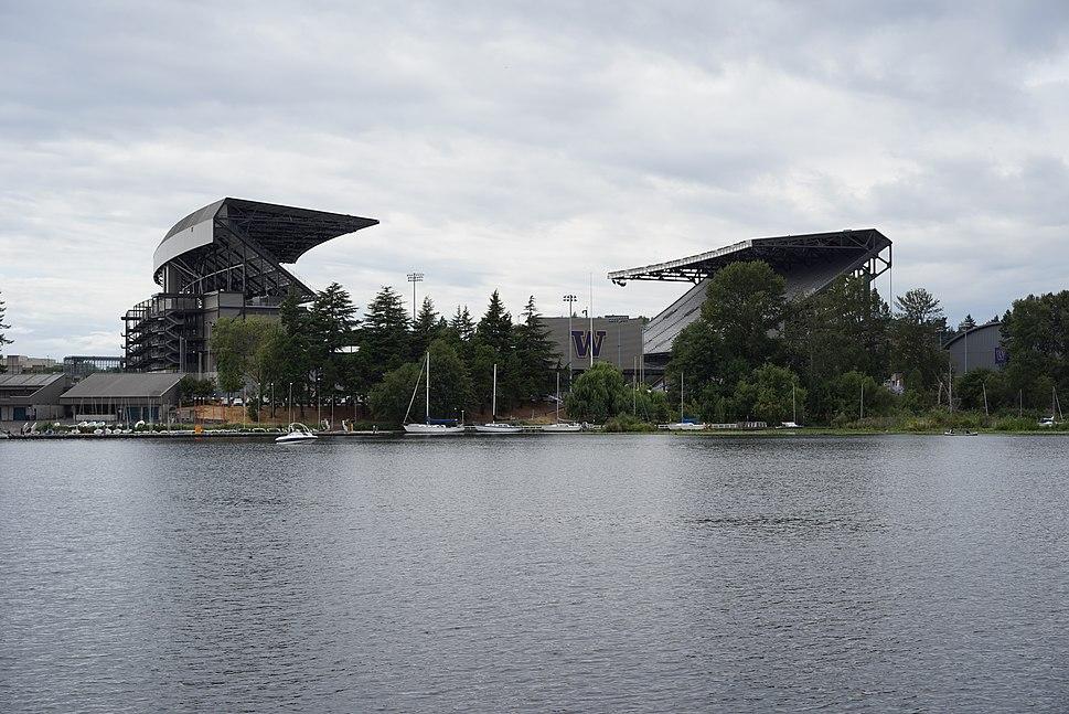 Husky stadium from Lake Washington
