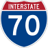 Interstate 70 marker