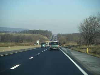 Interstate 78 in Pennsylvania - I-78 and US 22 eastbound in Berks County at mile marker 24.5.