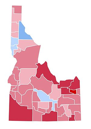 United States presidential election in Idaho, 1996 - Image: ID1996