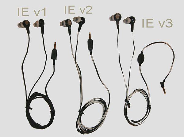 31c7b095702 3 versions of the Bose In-Ear (IE) headphones