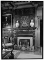 INTERIOR, DETAIL OF FIREPLACE - Glenmont, Llewellyn Park, West Orange, Essex County, NJ HABS NJ,7-ORAW,6-11.tif