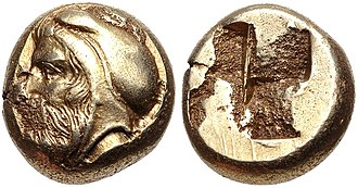 Tissaphernes - Coinage of Phokaia, Ionia, circa 478-387 BC. Possible portrait of Satrap Tissaphernes, with satrapal headress, but since these coins have no markings, attribution remains uncertain.