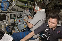 ISS-17 Sergei Volkov and Oleg Kononenko prepare the undocking of the ATV.jpg
