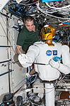 ISS-36 Chris Cassidy works with Robonaut 2.jpg