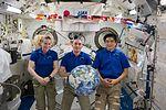 ISS-49 crew members in the Kibo lab.jpg