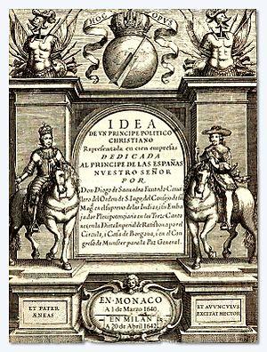 Diego de Saavedra Fajardo - The Idea of a Christian political prince.