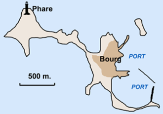 Île de Sein - Close-up of the island