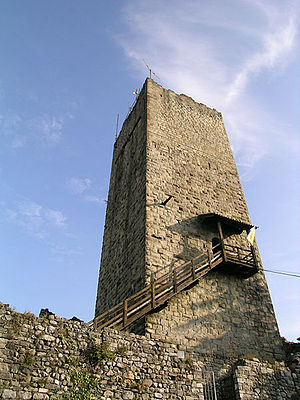 Castello Baradello - The watchtower.