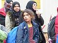Immigranten beim Grenzübergang Wegscheid (23127570791).jpg