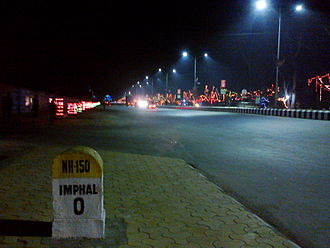 Imphal - National Highway 150 in Imphal